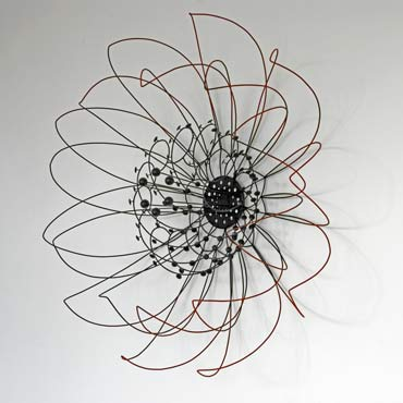 Neutron Bloom, wire sculpture.