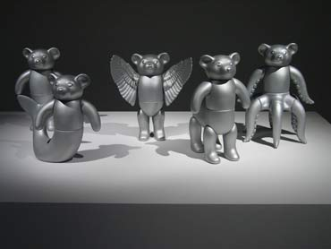GM Bears, Genetically Modified Bear series, installation, Millennium Galleries.